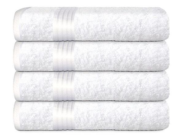 Hurbane Home 4 Piece Bath Towel Set White - Product Image