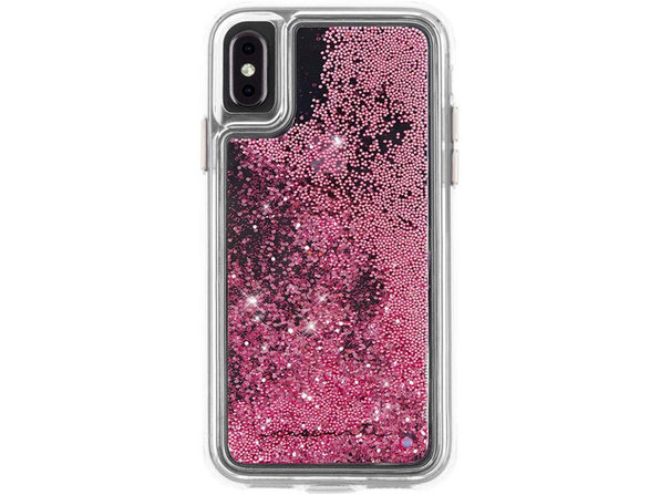 Case-Mate Apple iPhone XS Max Waterfall Plastic Protective Phone Case, Rose Gold