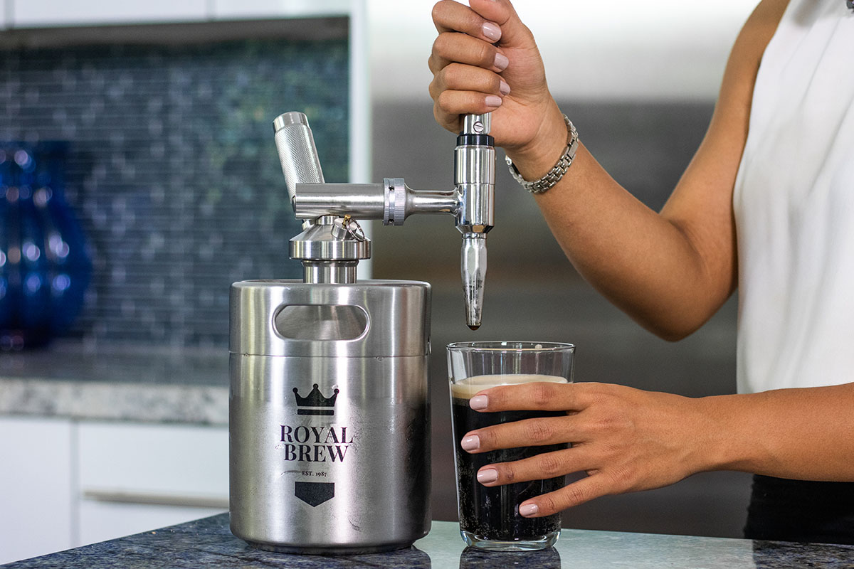 Royal Brew Nitro Coffee Maker, now on sale for $134.99 when you use the coupon code COFFELOVE10 at checkout