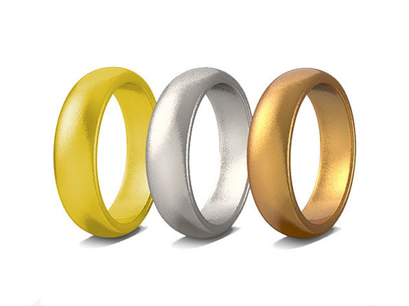 Set of 3 Unisex Rubber Rings for Working Out