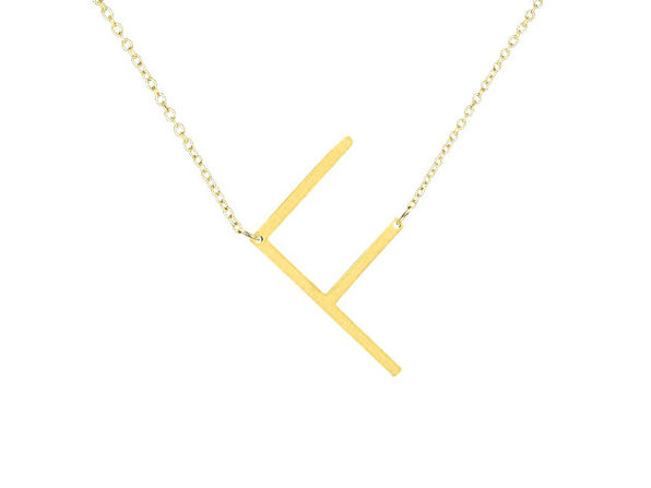 14K Gold Plated Letter Necklace - F - Product Image