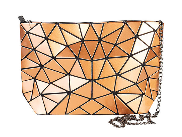 Geo Shaped Crossbody Purse - Gold - Product Image