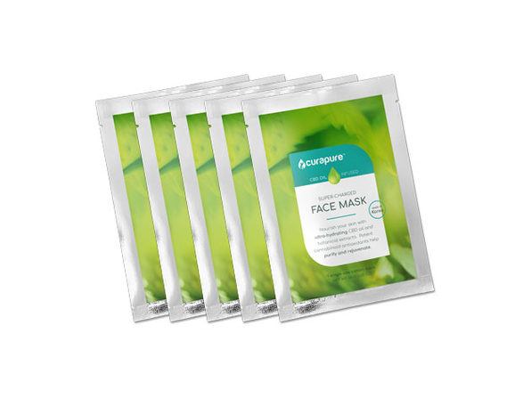Curapure CBD Hydrating Sheet Mask: 5-Pack