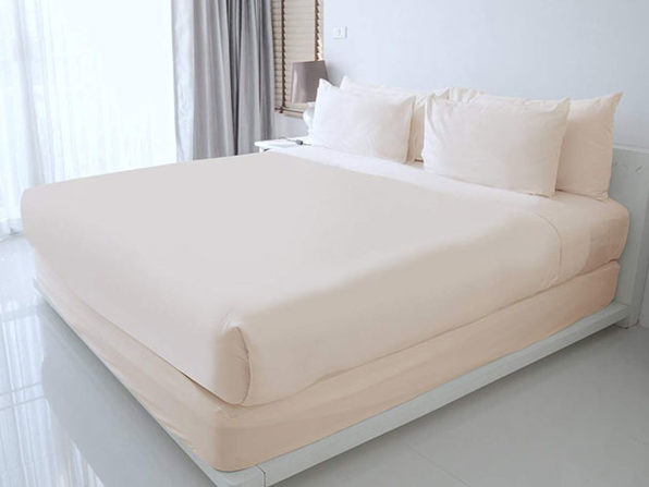 100% Egyptian Cotton Sheet Set (Ivory/King)
