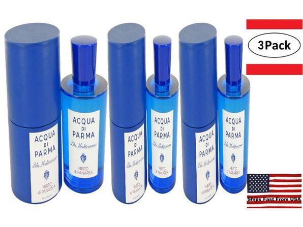 3 Pack Blu Mediterraneo Mirto Di Panarea by Acqua Di Parma Eau De Toilette Spray (Unisex) 5 oz for Women