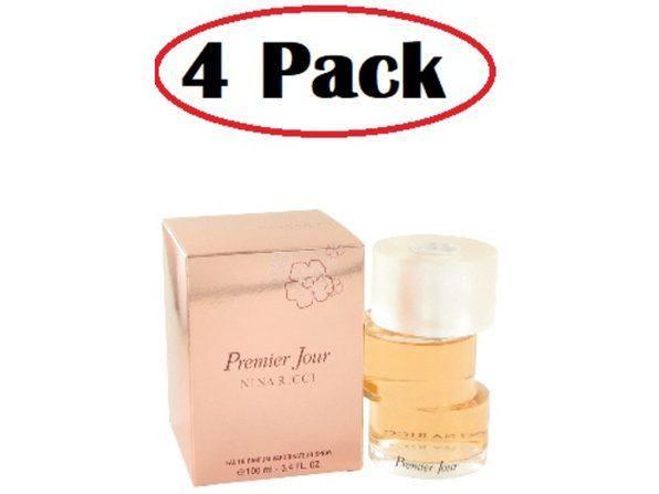 4 Pack of Premier Jour by Nina Ricci Eau De Parfum Spray 3.3 oz - Product Image