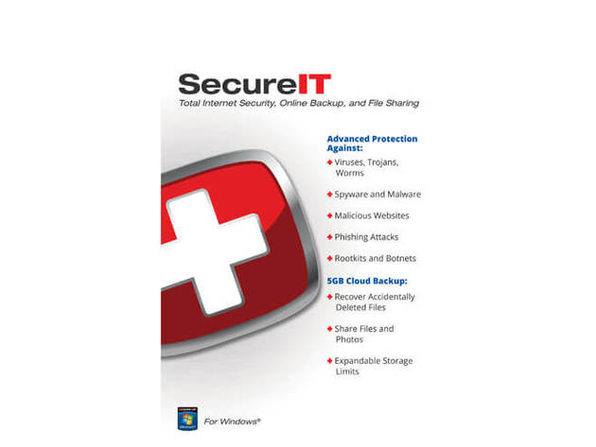 Security Coverage SECUREIT5GB SecureIT Total Internet Security + 5GB Cloud Backup - Product Image