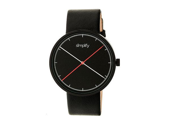 Simplify 4100 Unisex Watch (Black)