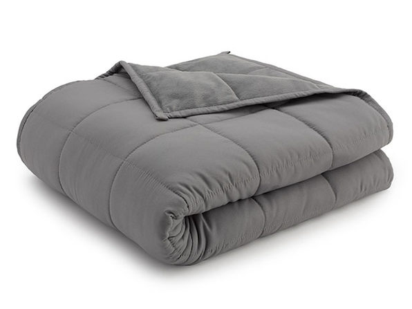 Weighted Anti-Anxiety Blanket (Grey/Grey, 20Lb)