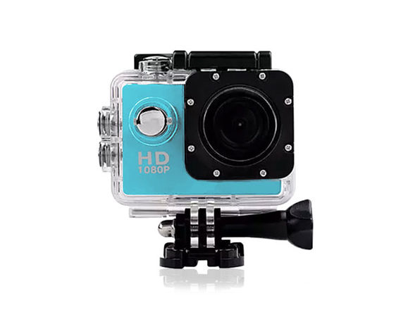 All PRO Action Sports Camera with HD 1080P Waterproof - Blue - Product Image