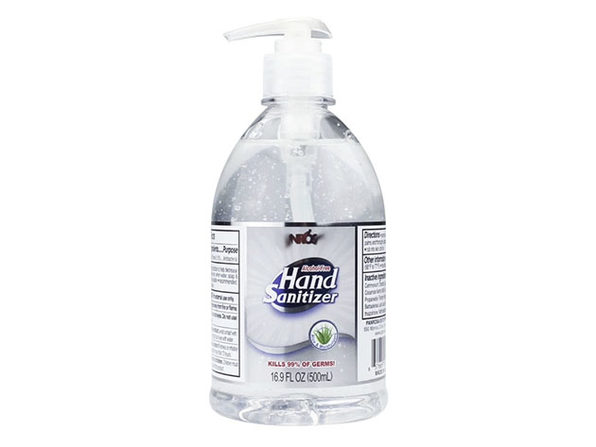 Advance Sanitizer Pump Bottle 16.9 oz / 500 ml Alcohol Free - Made In USA - Product Image