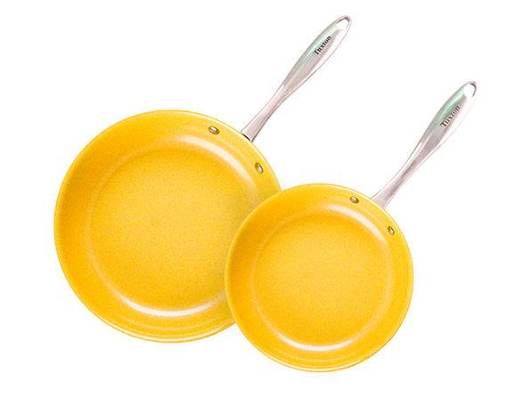 Concentrix 2-Piece Open Nonstick Frypan Set (Saffron Yellow)