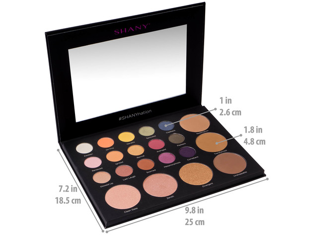 SHANY Revival Palette - 21-Color Eye & Cheek Palette with 15 Matte and Shimmer Eyeshadows, 3 Bronzers and 3 Highlighters - ORIGINAL for $24 6