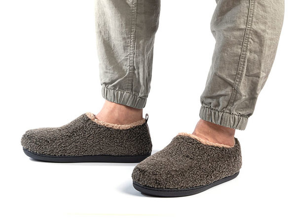 Men's Nomad Slippers with Memory Foam (Mocha, Size 9.5-10.5)