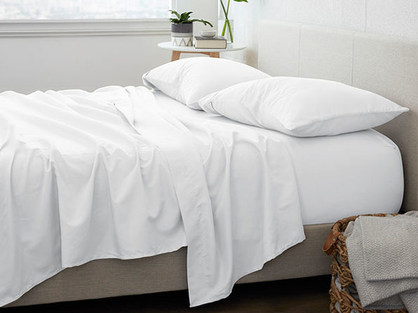 Home Collection Premium Ultra Soft 4-Piece Bed Sheet Set (White/King)
