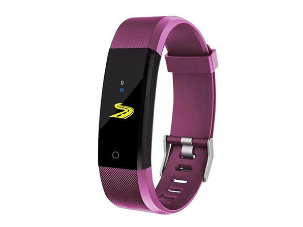 Waterproof Fitness Tracker With HR & BP Monitor - Purple - Product Image