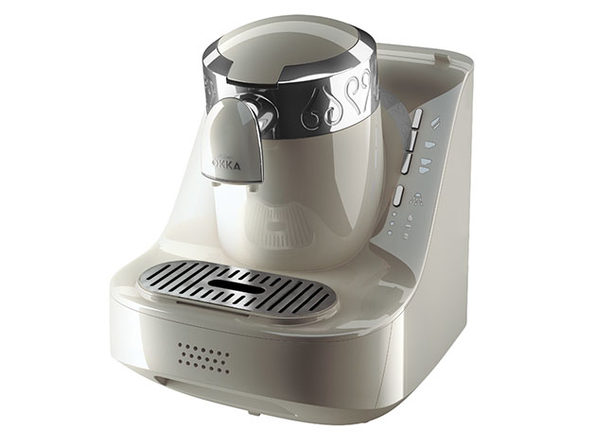 Arzum Okka Automatic 120V Turkish Coffee Maker (White/Silver)
