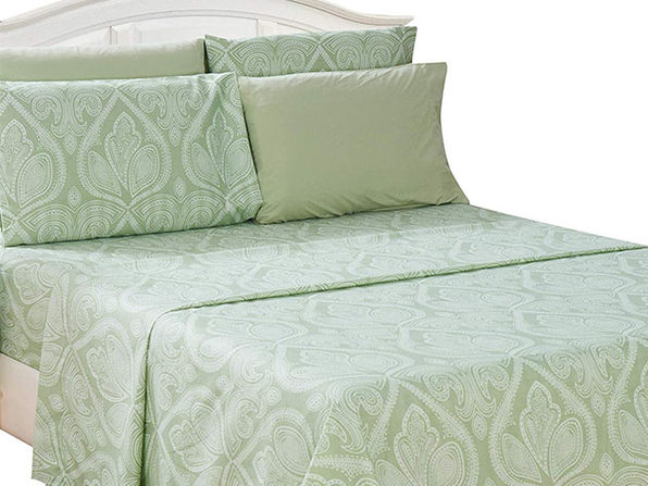 Paisley Sheet 6 Pcs Sage - Twin - Product Image