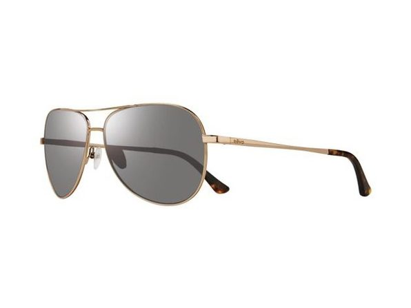 Revo Unisex RE 5015 04 GY  Johnston Polarized Aviator Sunglasses Gold - Gold