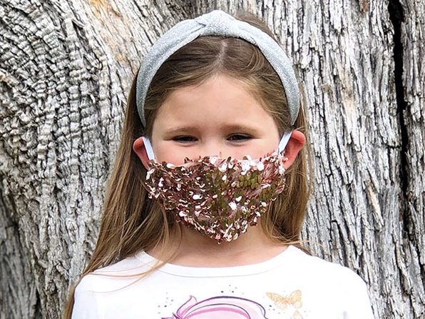 Sequin Face Mask (Rose / Kid's Size)