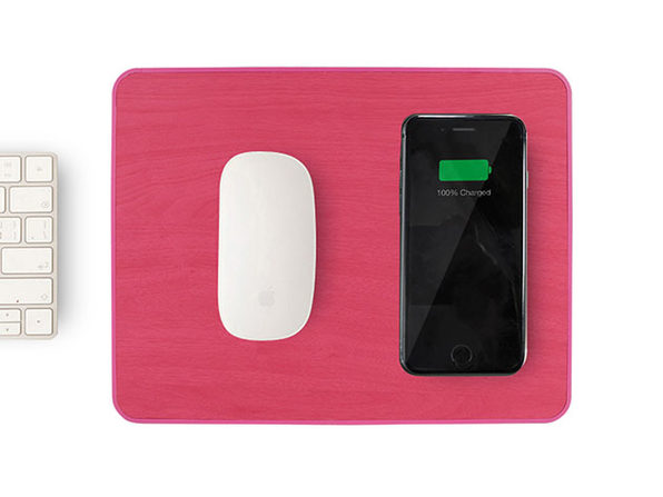 Wireless Charging Mouse Pad (Pink)