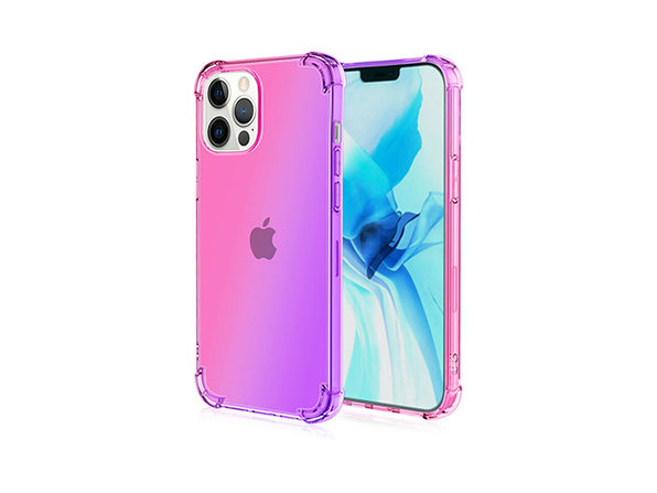 iPhone 12 Pro Max Dual Tone Case Pink & Purple - Product Image