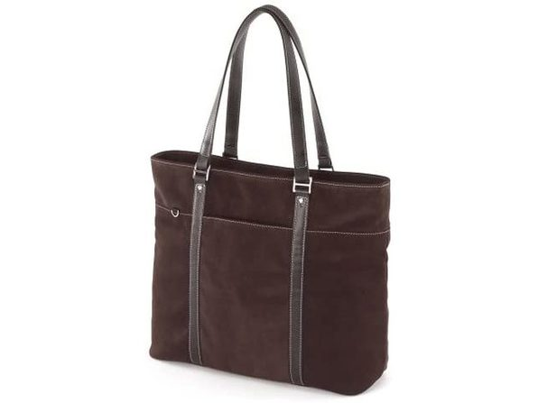 "Mobile Edge Chocolate Suede Computer Tote Bag - Fits 15.4"" PC / 17"" Macbook Pro (New)"