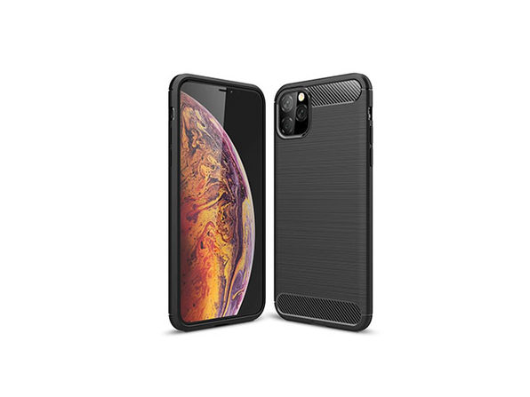 iPM iPhone 11 Pro Max Carbon Fiber Protective Case (Black)