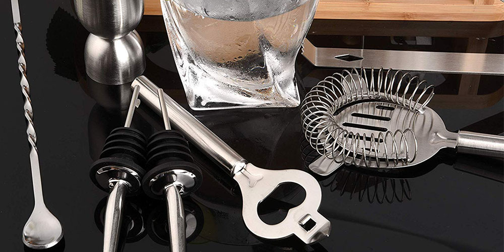 11-Piece Stainless Steel Cocktail Bar Tool Set
