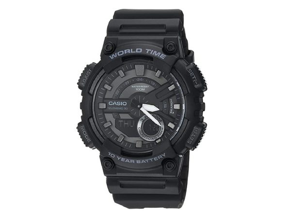Casio Men's Classic Quartz Stainless Steel and Resin Casual Watch - Black