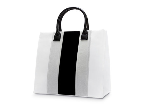 Apex Velvet Striped Bag