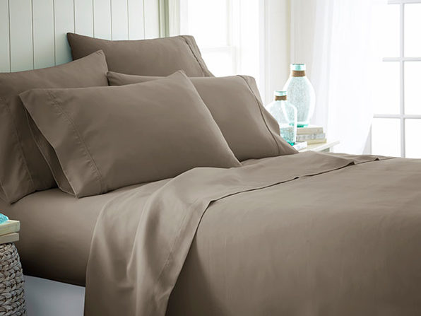 iEnjoy Home Taupe 6-Piece Sheet Set (Cal King)