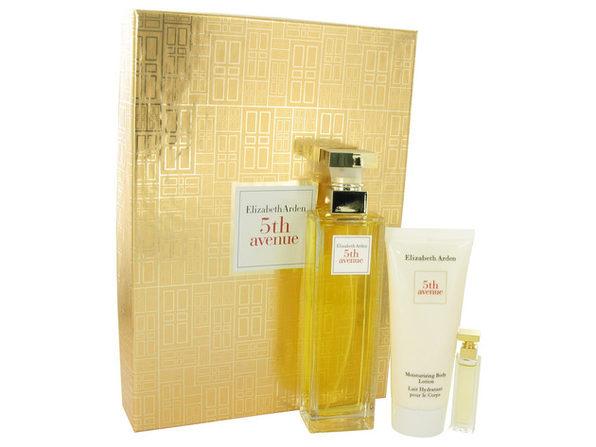 5TH AVENUE by Elizabeth Arden Gift Set -- 4.2 oz Eau De Parfum Spray + .12 oz Mini + 3.3 oz Body Lotion - Product Image