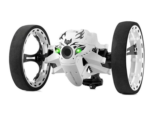 Remote Control 2-Wheeled Jump Car Toy: White