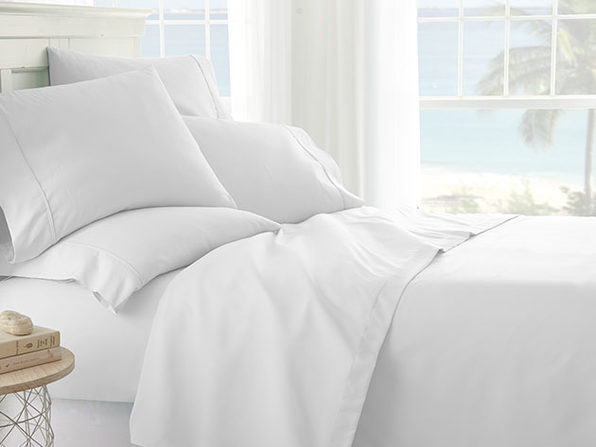White 6-Piece Sheet Set - King - Product Image