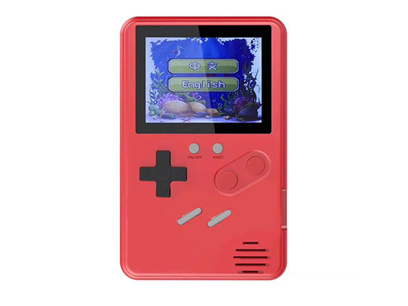 Ultra-Slim 500-Game Retro Gaming Device (Red)