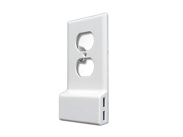 Invisible Dual USB Wall Charger Plate (Round)