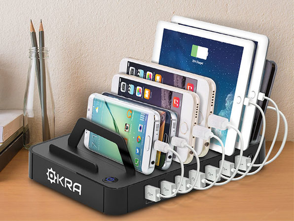 Okra 7-Port USB Desktop Universal Charging Station