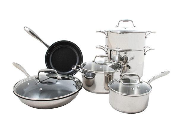 Concentrix 10-Piece Stainless Steel Housewarming Cookware Set