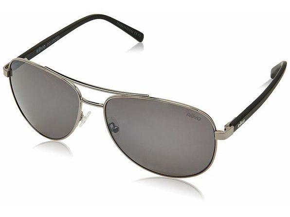 Revo RE 5021 00 GY Shaw Polarized Aviator Sunglasses, Gunmetal, 61 mm - Black