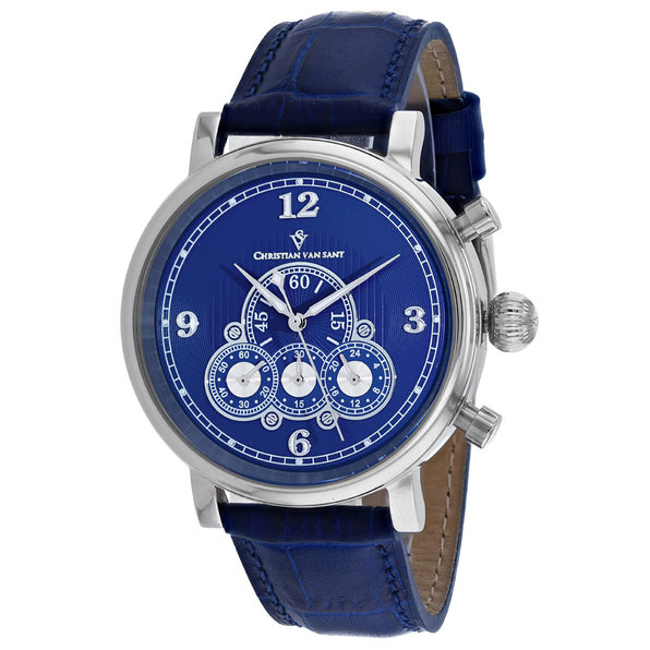 Christian Van Sant Men's Blue Dial Watch - CV0712