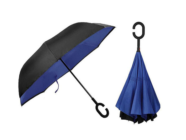 SwissTek Double Layer Smart Umbrella: 2-Pack (Blue) - Product Image