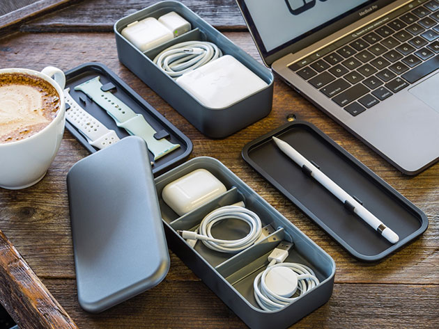 Organize Your Workspace & Travel with Apple Accessories Easier with This Ingenious Box