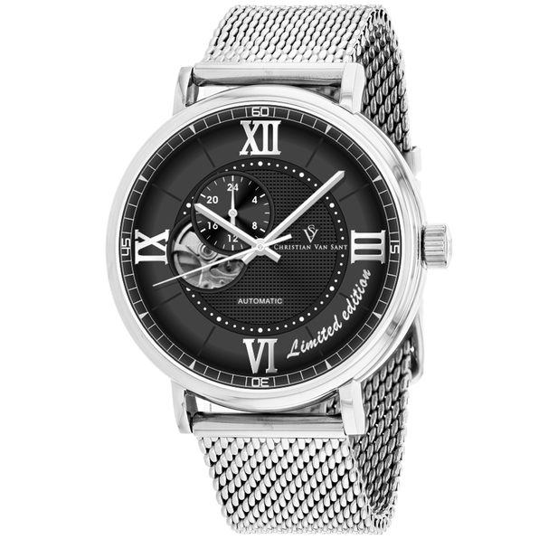 Christian Van Sant Men's Somptueuse LTD Black Dial Watch - CV1142