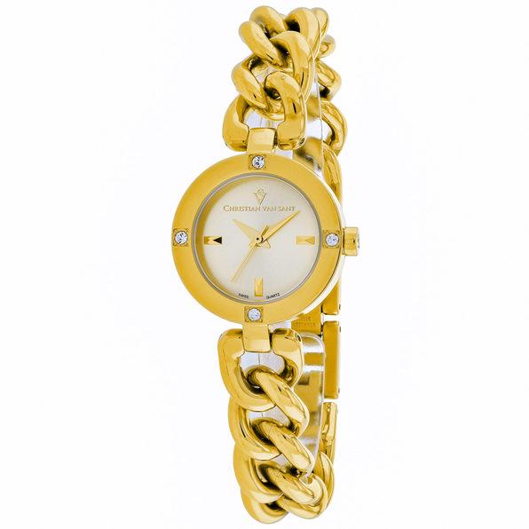 Christian Van Sant Women's Sultry Silver Dial Watch - CV0214
