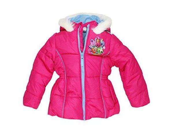 Shopkins Little Girls Puffer Polyester Coat, Size 4