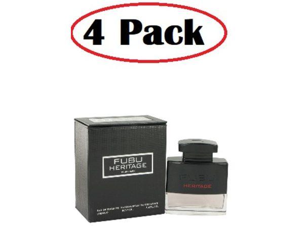 4 Pack of Fubu Heritage by Fubu Eau De Toilette Spray 3.4 oz - Product Image