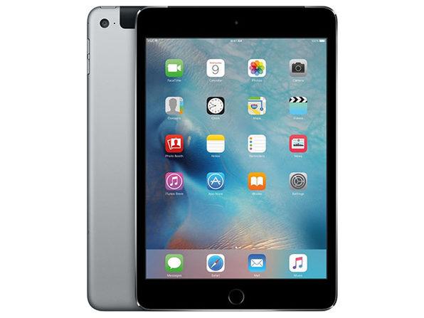 Apple iPad Mini 4, 128GB - Space Gray (Wi-Fi + 4G LTE)