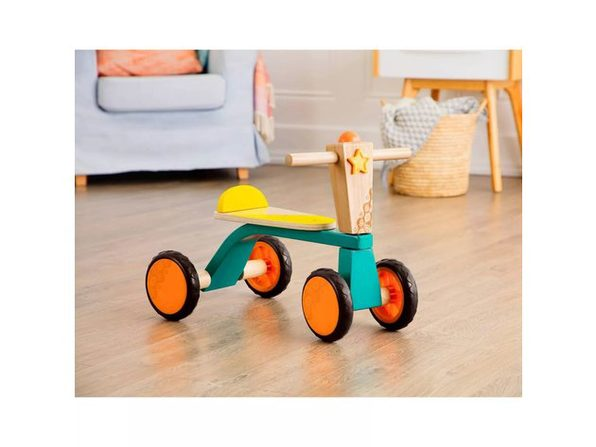 B. Toys Sturdy and Lightweight Smooth 4 Wheel Wooden Toddler Bike Rider for Toddlers