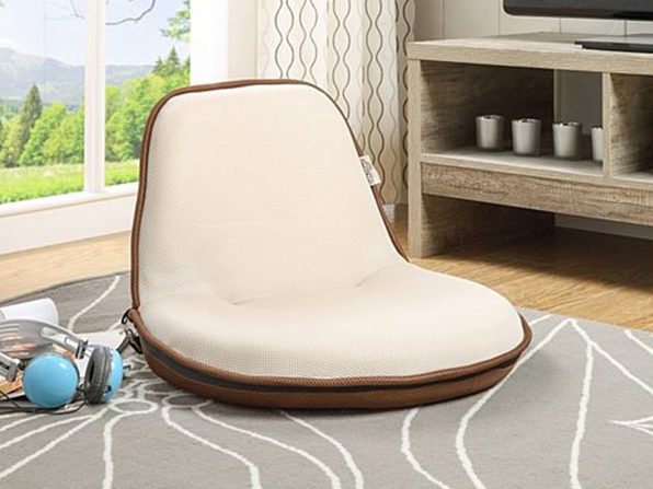 Loungie Quickchair Mesh Floor Chair  - beige/brown - Product Image